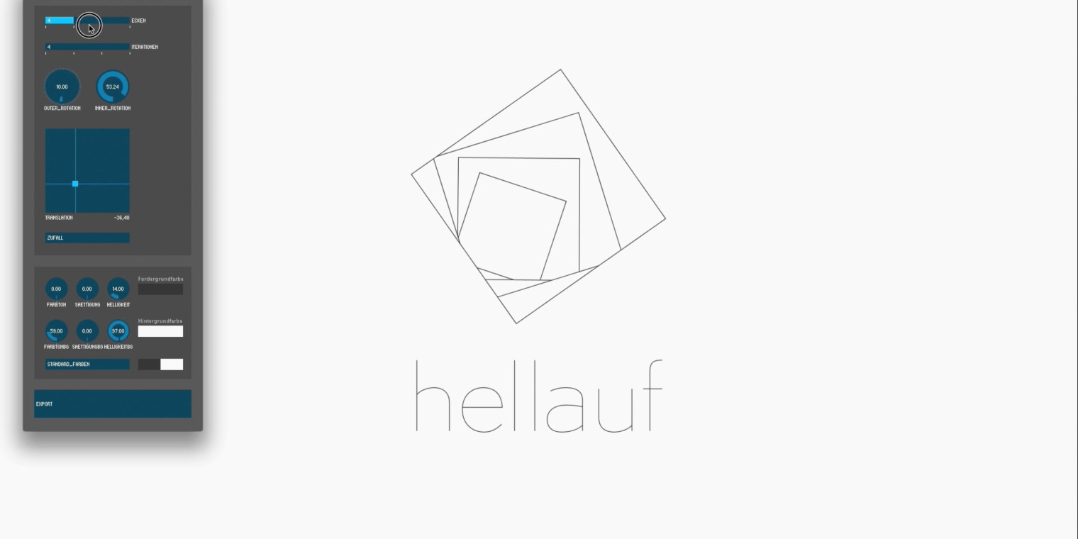 Dynamic Logo for hellauf
